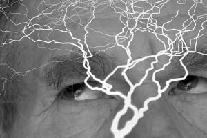 Villedet viser hjerneaktivitet. Siden handler om, hvad der sker i en hjerne med PTSD.