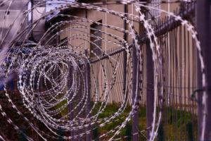 Fotoet viser ståltråd. Fotoet er taget af Hedi Benyounes. Siden handler om vejen fra fængselsbetjent til førtidspensionist.